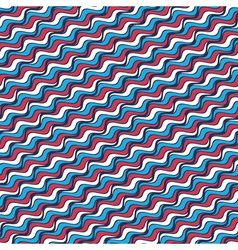 wavy striped background vector image