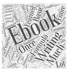 Writing an ebook word cloud concept vector