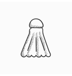 Shuttlecock sketch icon vector