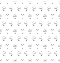 Seamless pattern texture background with bulbs vector
