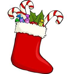 christmas sock vector image