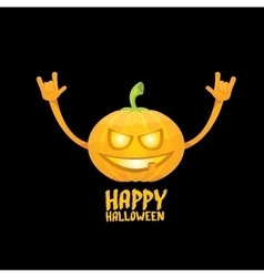 Pumpkin rock n roll style halloween greeting card vector