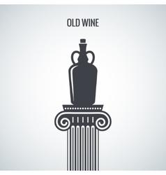 Vintage Wine Jug Design Background vector image