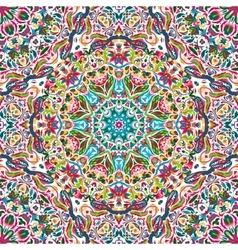 Seamless pattern with bright floral vector