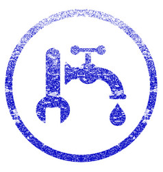 Plumbing grunge textured icon vector