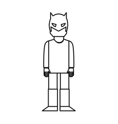 Super hero with mask character vector