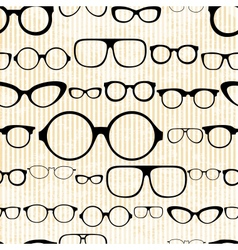 Seamless pattern from glasses in vintage style vector
