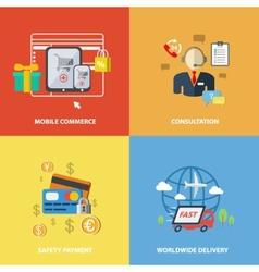 Shopping e-commerce elements vector image