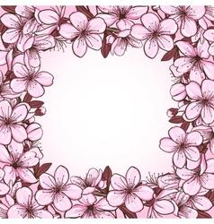 Cherry blossom frame vector image