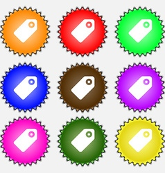 Special offer label icon sign a set of nine vector
