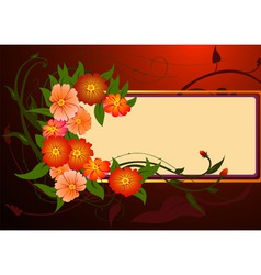 Vector illustraition of funky abstract floral bord vector