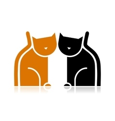 Cats silhouette for your design vector