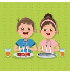 Kids menu design food and vector