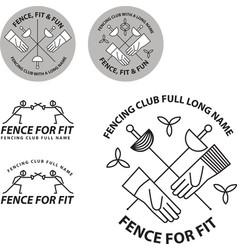 Fencing club logo vector
