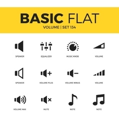 Basic set of icons vector