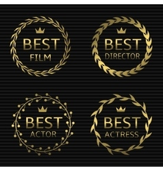 Best film awards vector