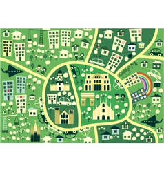 cartoon map of milano italy vector image vector image