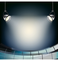 cinema projector background vector image