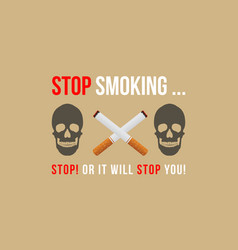 Collection background no tobacco day style vector
