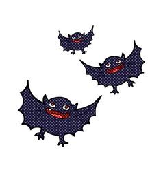 Comic cartoon vampire bats vector
