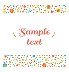 Cute greeting card with floral design elements vector image vector image