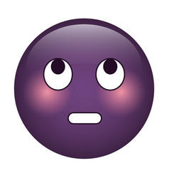eye rolling emoticon funny icon vector image