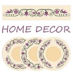 Floral ornament for interior design vector