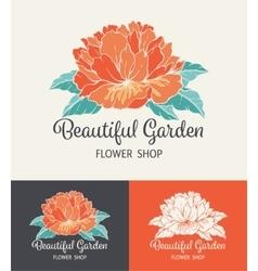 Flower Logo Shop vector image