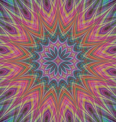 Glowing abstract star fractal design vector