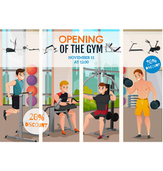 gym opening poster vector image