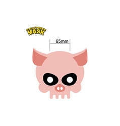 Halloween mask skull of a pig dear head of vector