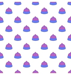 Knitted hat pattern cartoon style vector