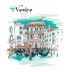 palazzo on the grand canal in venice italia vector image