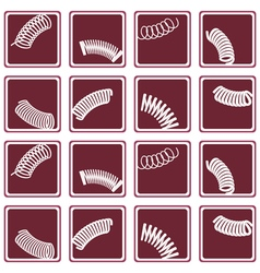 Seamless background with springs vector