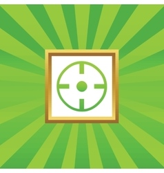 Target picture icon vector