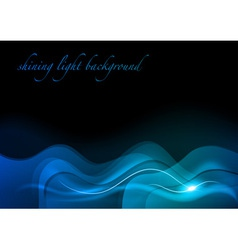 wave neon light dark blue vector image vector image