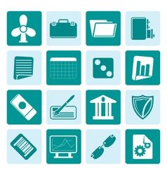 One tone business and office icons vector