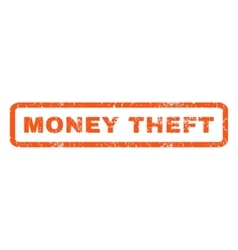 Money theft rubber stamp vector