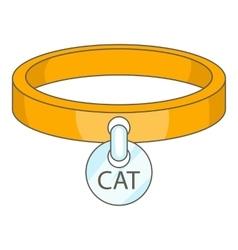 Cat collar icon cartoon style vector