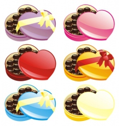chocolate boxes set vector image