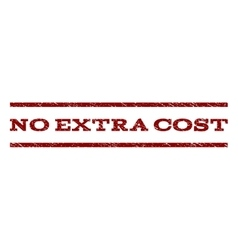No extra cost watermark stamp vector