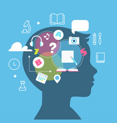 Education learning styles memory and learning vector