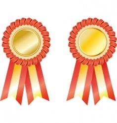 set award ribbons vector image
