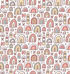 Funny shapes pattern vector image