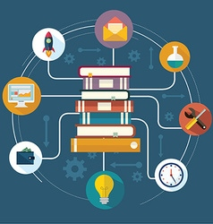 The concept of modern education vector