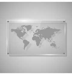 Glass framework world map vector
