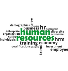 Word cloud human resources vector