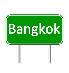 Bangkok road sign vector