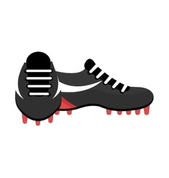 Black and white soccer shoes graphic vector