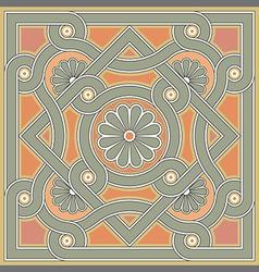 Byzantine decorative rosette vector image vector image